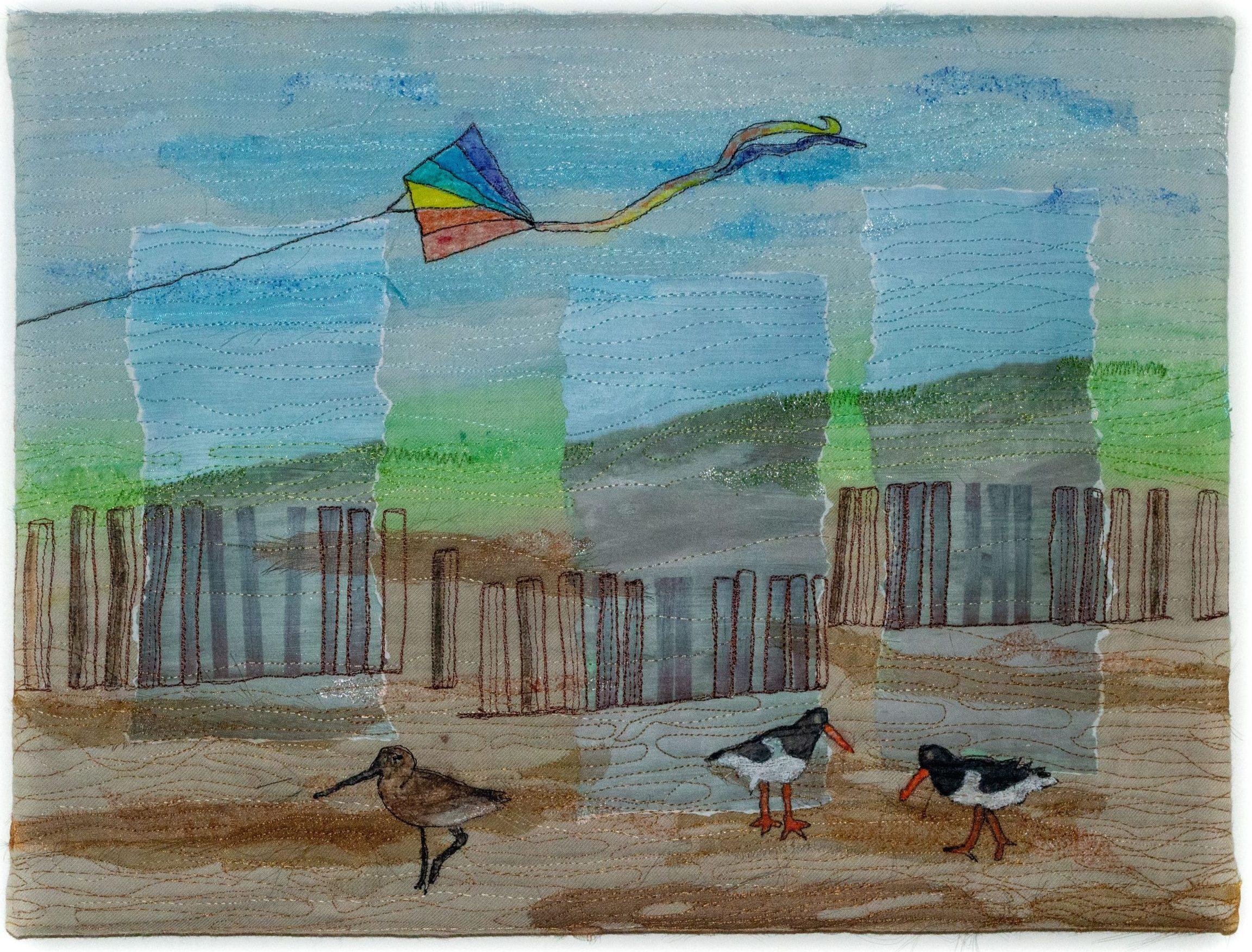 Landschap en vlieger